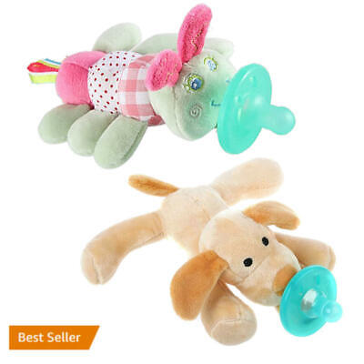 US Baby Feeding Pacifier dog caterpillar Feeder Dummy Soother Weaning Nipple WF