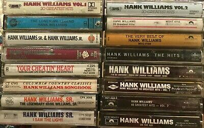 Pick 1 Tape From This Hank Williams Sr. Country Cassette Tape Lot On The Air +