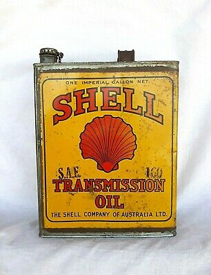 Early Shell One Gallon Transmission Oil Tin Can