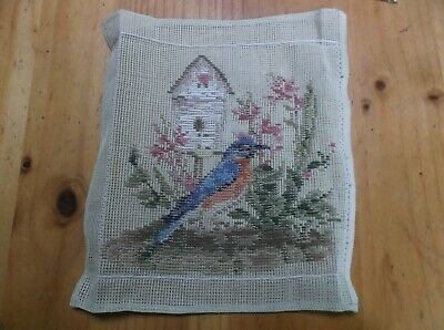 Unworked Trammed Tapestry Kit. Bird House