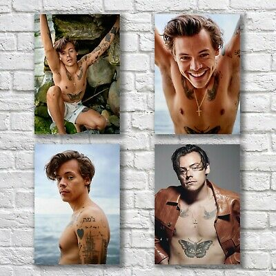 Harry Styles HQ Poster A4 NEW Set Sexy Hot Guy Hunk Body Home Wall Decor #1