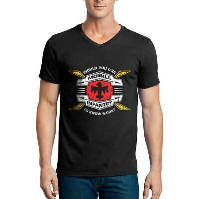 Mobile Infantry Army V-Neck T-Shirt Infantry Air Force Troopers Invasion Wa D270