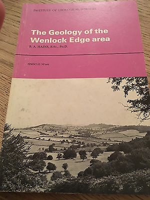 WENLOCK EDGE AREA INSTITUTE of GEOLOGICAL SCIENCES Book The Geology of the