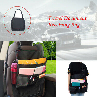 Car Back Receiving Bag Tidy Organizer Travel Notebook PC File Pack Working Bag