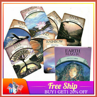 48PCS Cards Earth Magic Oracle Deck Future Fate Fortune Telling English Game LOT