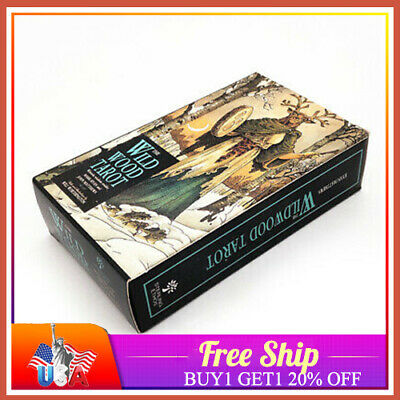 78Pcs/Set Cards Wild Wood Tarot Cards Beginner Deck Vintage Fortune Tell 20% OFF