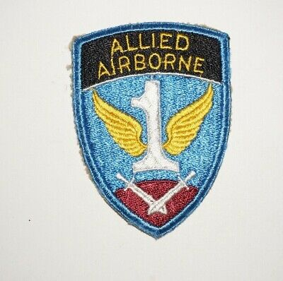 1st Allied Airborne Army Patch WWII US Army P9901