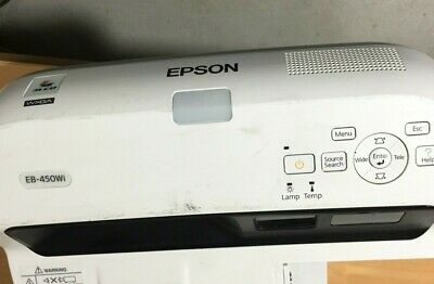 Epson EB-450Wi LCD Projector 1094 lamp hours