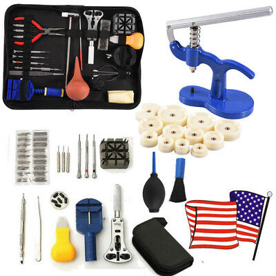 Watch Repair Tool Kit Remover Case Opener Spring Bar Back Pin Hand Band Set AD