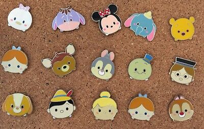 Disney parks Tsum Tsum Trading Pin Authentic 15 Lots Tinker Bell Wendy Pinocchio
