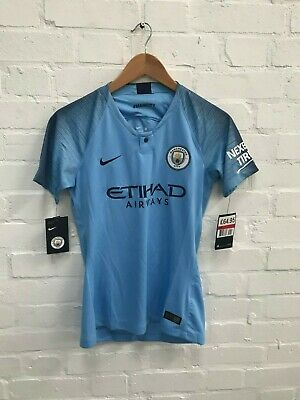 Manchester City Nike Women's 18/19 Home Shirt - L - Foundation Marks - New