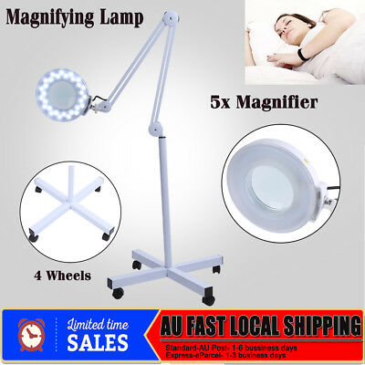 Magnifying Lamp 5X Illuminated Light Glass Lens Stand Spa Salon Beauty Magnifier