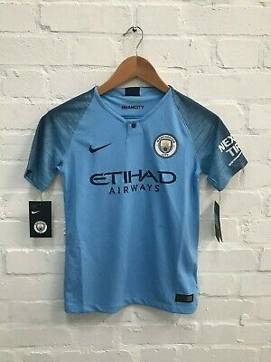 Manchester City Nike Kid's 18/19 Home Shirt - 10-12 Years - New with Defects