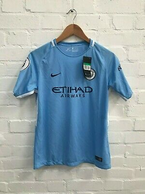 Manchester City Nike Kid's 17/18 Home Shirt - 13-15 Years - New with Defects