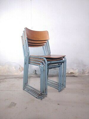 Vintage Plywood Stacking School Chairs - Cafe Bar Restaurant - 14 Available