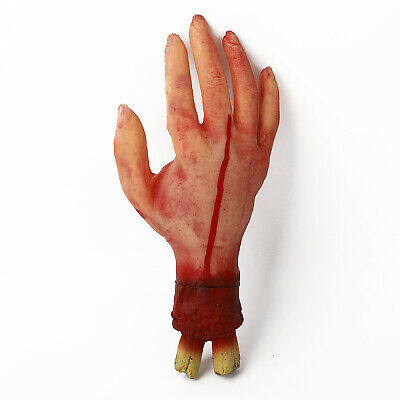 Halloween Horror Props Lifesize Bloody Hand Haunted House Party Scary Decor - Bu