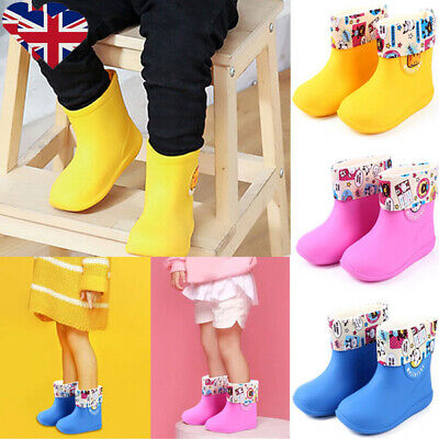 ✨Kids Girls Boys Animal Wellington Boots Antip-slip Rain Snow Wellies Shoes Size