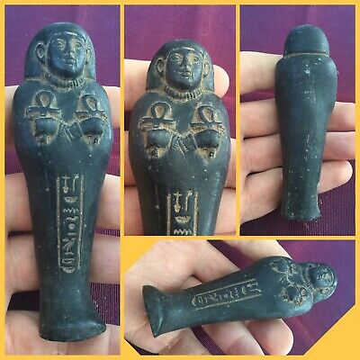 Here is a rare ancient Egyptian luxor Shabti  with hieroglyphics, 664-332