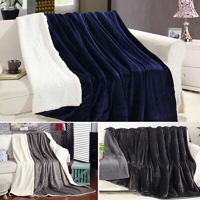 Summer Air Conditioning Fleece Flannel Blankets Double Size Large Resistant CA