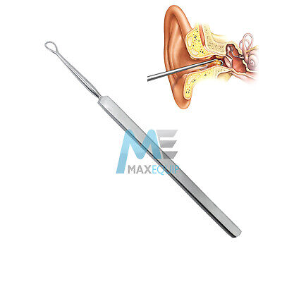 PROFESSIONAL EAR WAX REMOVER MEDICAL EAR CLEANER STAINLESS STEEL TOOL 14cm