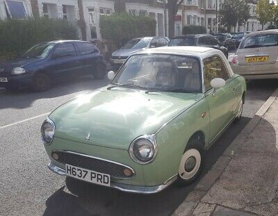 Green Nissan Figaro Car with MOT
