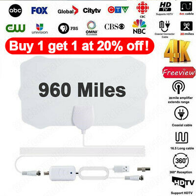 960-Mile Range Antenna TV Digital HDTV 1080p Skywire 4K HD Antena Digital-Indoor