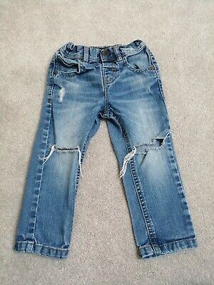 Baby Toddler Boys Next Jeans Size Age 1 1/2 - 2 Funky Ripped Jeans Fab!