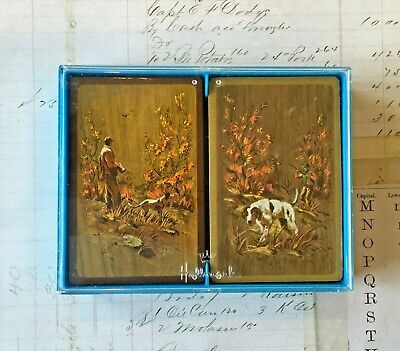 Vintage Playing Cards Hallmark Hunting Dog Double Deck SEALED Great Condition