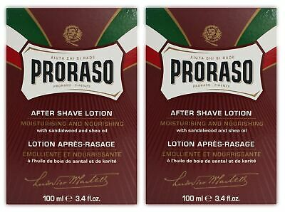 2x After Shave Lotion Proraso Rot 100 ml
