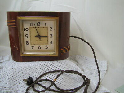 Antique Streamlined Electric Art Deco Clock  by Seth Thomas 1930's