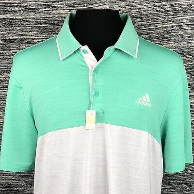 Adidas Golf Mens Large Ultimate 365 Polo Shirt SS Color Block UPF 50 New