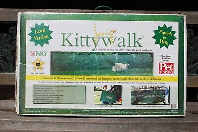 KITTYWALK Lawn Version Outdoor Cat Enclosure Play Pen Tunnel Green New KW100