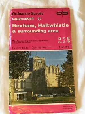 Ordnance Survey Map Landranger 87 - Hexham, Haltwhistle & surrounding area