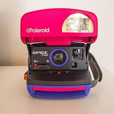Polaroid spice girls 90s ++READY TO SHOOT PACKAGE+ stickers --