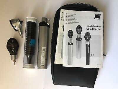 KaWe Germany Otoscope Ophthalmoscope Set Kit Clean Unit Fully Functional