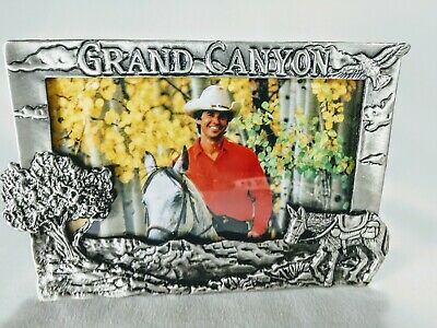 Grand Canyon Pewter Picture/Photo Frame with glass Souvenir Memory BEAUTIFUL!