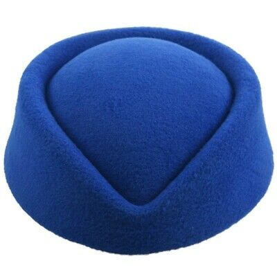 New Elegant Wool Felt Pillbox Stewardess Air Hostesses Beret Hat Party Base T8U4