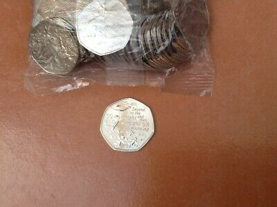 Isle Of Man 2019 Peter Pan Second To The Right 50P Coin From Sealed Bag, Uncirc.