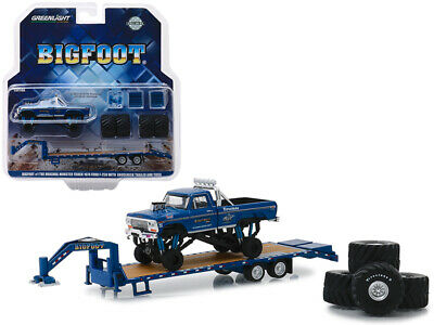 1974 Ford F250 Bigfoot Monster Truck w/ Gooseneck Trailer 1:64 Greenlight 30054*