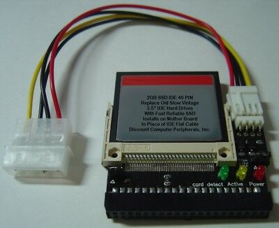 """WD AC22000 3.5/"""" IDE Drive Replace with this SSD 2GB 40 PIN IDE Card"""