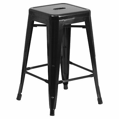 Flash Furniture 24 High Backless Metal Indoor-Outdoor Counter Height Stool