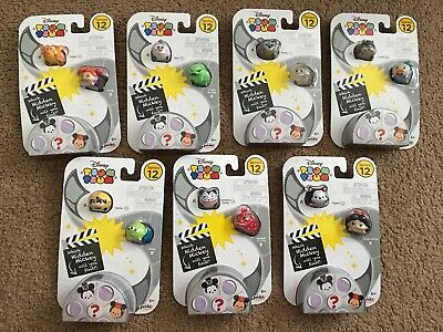 Disney Tsum Tsum Series 12 Sealed Packs Lot Of 7