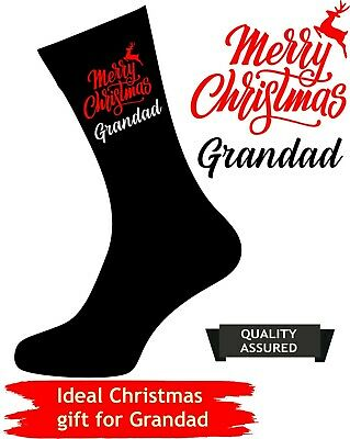 Personalised CHRISTMAS Socks NOVELTY Gift Dad Daddy Grandad Uncle present idea