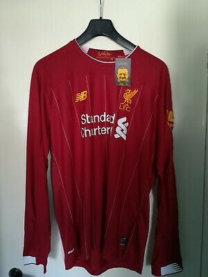 New Tags Liverpool FC red home shirt 2019/20 Large Long Sleeved