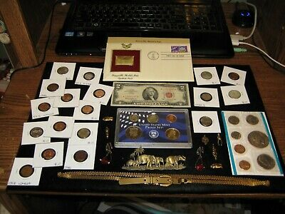Junk Drawer Coin lot Red Seal 2003 PROOF Silver Coin Mint Coins IKE SET JEWELRY
