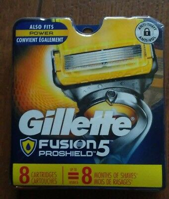 Gillette Fusion PROSHIELD Refill Blades 8 Cartridges,