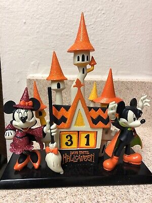 Disney Parks Halloween Mickey And Minnie Countdown Castle