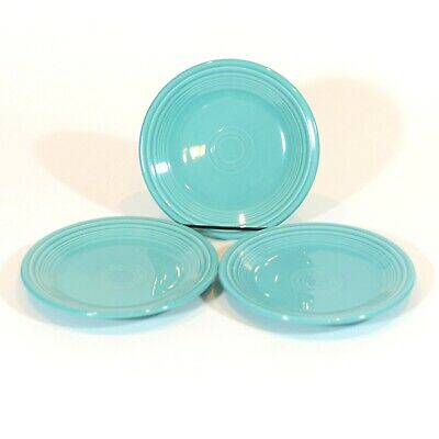 Fiestaware 3 Qty Salad Plate Fiesta 7.25 inch small plate - Turquoise