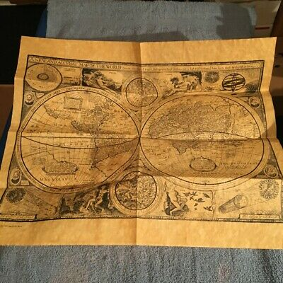 Map Of The World 1651-Reproduction