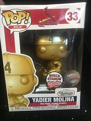 Rare GOLD Yadier Molina Funko Pop Busch Stadium EXCLUSIVE Limited. Only 900 made